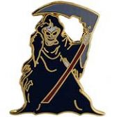GRIM REAPER WARRIOR LAPEL PIN